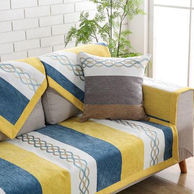 沙发垫夏季通用防滑坐垫子全包万能沙发套罩北欧简约靠背垫盖布巾
