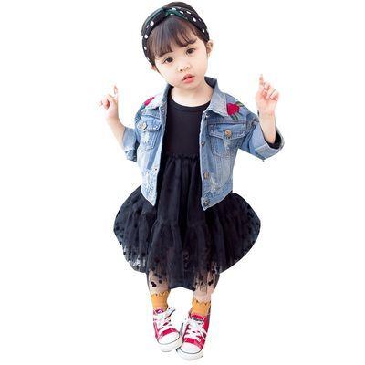 宝宝牛仔外套女0一1岁婴儿童装2女宝女孩春秋公主上衣3潮4八6个月