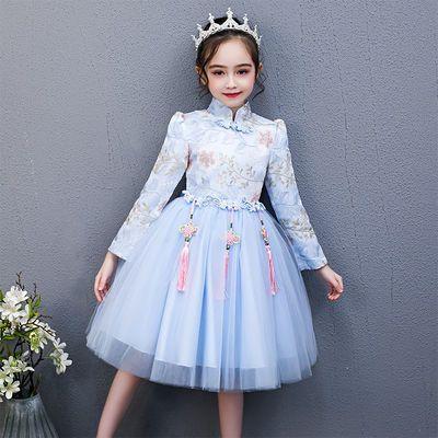 女童连衣裙儿童公主裙童装旗袍唐装汉服小女孩洋气裙子秋冬装新款
