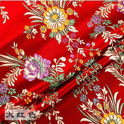 御纺布艺 高密尼龙织锦缎布料 仿古旗袍唐装面料红木家具丝绸缎布