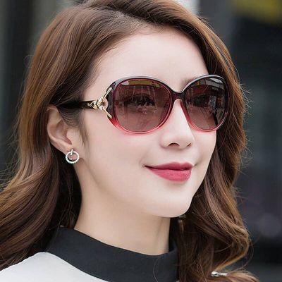 新款女偏光圆脸眼镜墨镜女韩版防紫外线潮人日夜用太阳镜开车驾驶