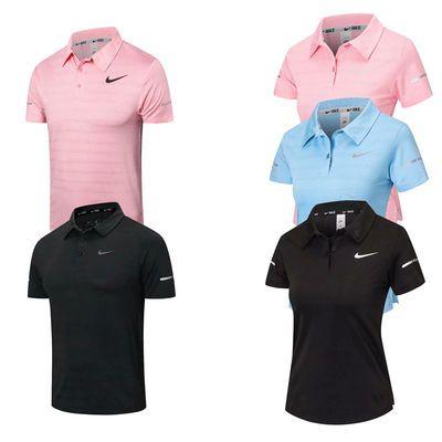 T恤健身服男女翻领短袖速干衣POLO高尔夫透气户外运动跑步训练服