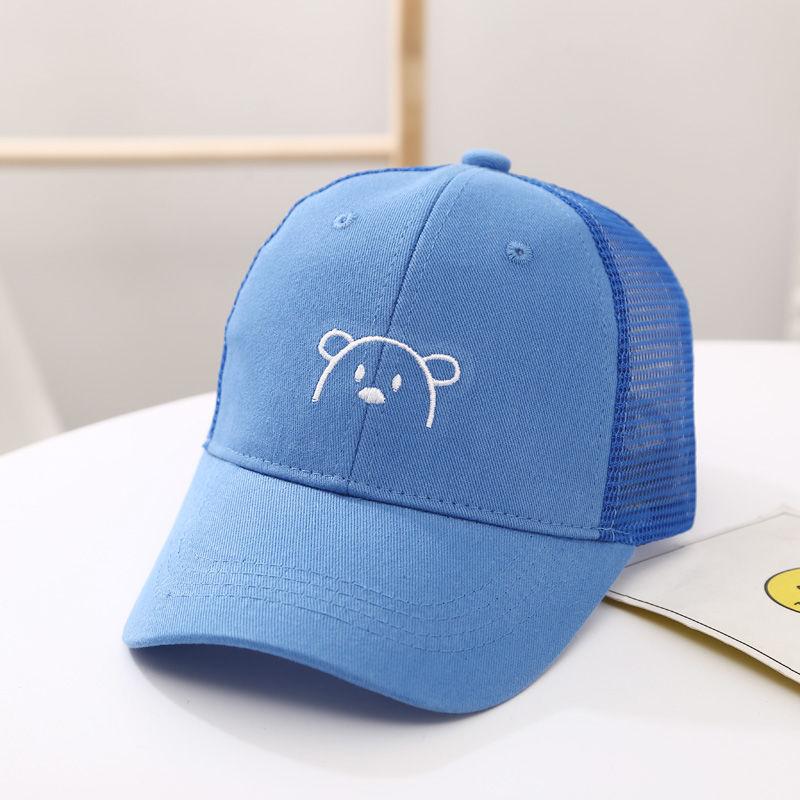 儿童帽子男潮夏季棒球帽女童遮阳凉帽宝宝鸭舌帽男童防晒太阳网帽