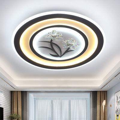 2020新款led客厅灯吸顶灯卧室灯长方形水晶灯圆形书房灯餐厅灯具