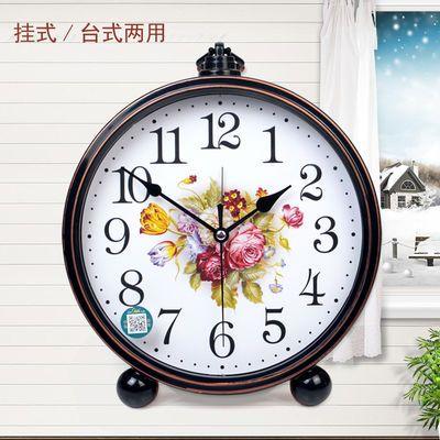 康巴丝欧式座钟创意复古闹钟客厅台钟装饰钟表现代简约静音石英钟