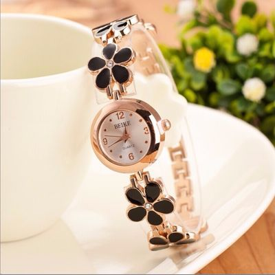 唯美花朵手表韩版简约手链手表女士闺蜜时尚潮流手表小巧百搭腕表