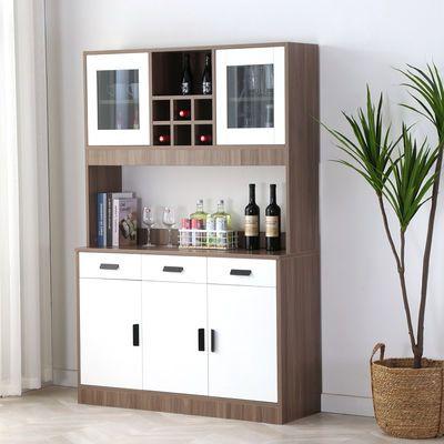 现代简约餐边柜客厅橱柜家用厨房储物柜简易茶水柜红酒柜微波炉柜