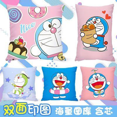 小叮当猫哆啦A梦抱枕diy来图定制双面靠垫抱枕被两用学生礼物周边