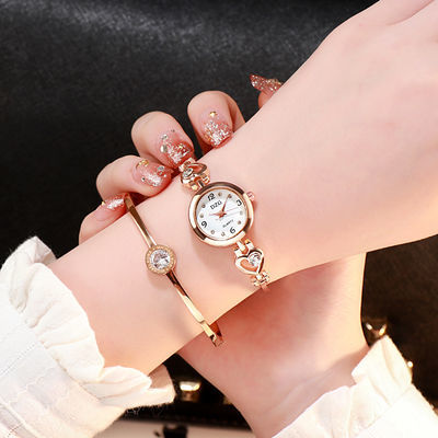 送调表器 韩版可爱桃心表链时尚手链表 女士优雅手表 女学生手表