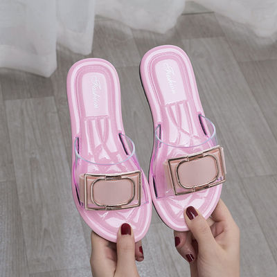 水晶儿童拖鞋夏时尚外穿公主凉拖鞋女童小孩室内防滑亲子新款韩版
