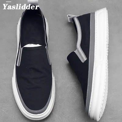 Yaslidder世纪伟昊抖音同款男士休闲老北京布鞋潮流百搭乐福鞋