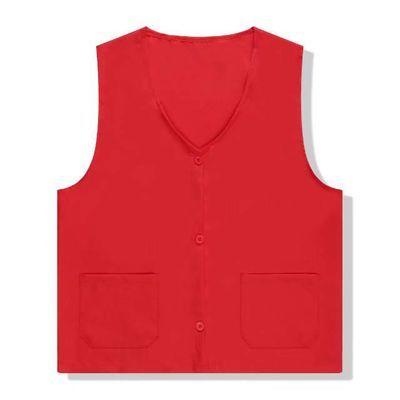 马甲女红色志愿者马甲美团外卖工作服男女广告背心绣字印字定制