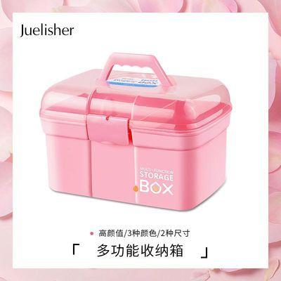 美甲工具指甲油胶收纳盒化妆手提式工具箱桌面盒多层大容量整理箱