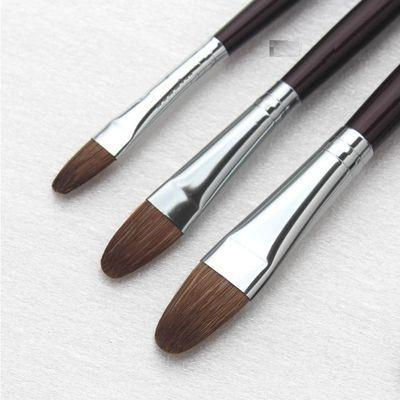 马蒂斯狼豪水粉笔 圆锋狼毫水粉画笔油画丙烯画笔套装笔6支装955