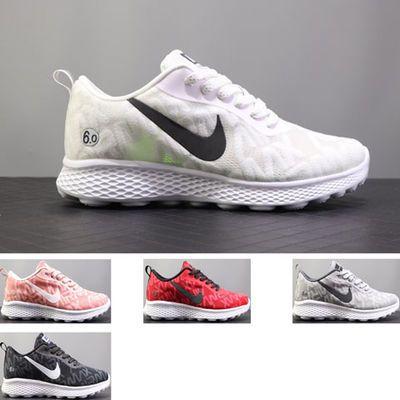 夏季赤足轻便透气网面运动跑鞋低帮男女鞋MD底减震休闲鞋厚底增高