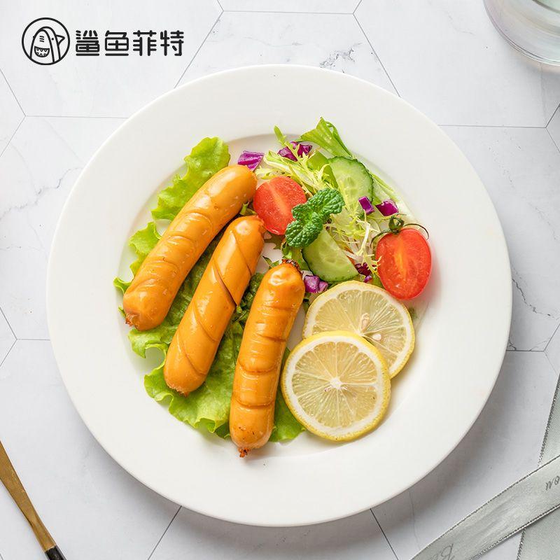 鲨鱼菲特鸡胸肉肠健身代餐即食饱腹无减低脂卡高蛋白肥休闲零食品