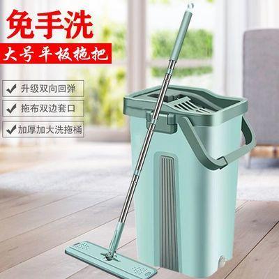 免手洗平板拖把桶大号刮刮乐旋转一拖净干湿两用懒人家用墩布拖布