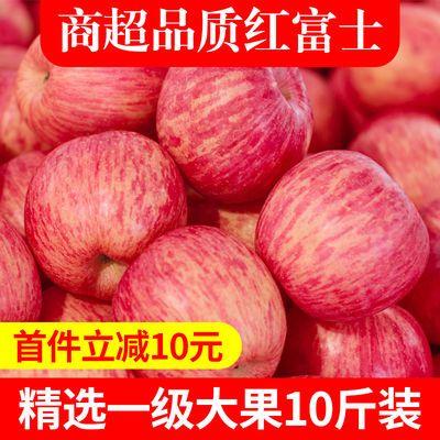 【正宗洛川红富士10斤】陕西苹果水果新鲜苹果冰糖心5斤整箱批发