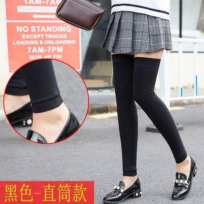 加绒过膝女生袜套空调房老寒腿加厚女高筒袜保暖靴套打底袜子显瘦
