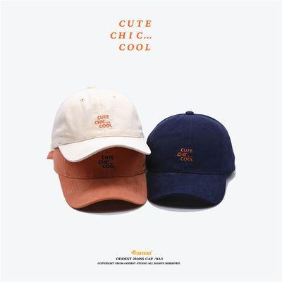 【ODDEST】字母棒球帽男女春夏ins时尚鸭舌帽新款CUTE COOL软顶帽