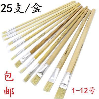 上海白杆猪鬃油画笔刷漆工具刷子猪毛硬毛笔刷鞋材清洗刷胶长杆笔
