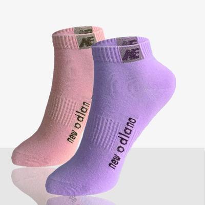 袜子女袜纯色棉袜短袜女士运动袜春秋季薄厚款吸汗白彩色浅口袜子