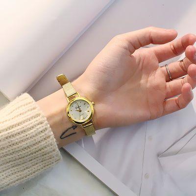 手表女学生韩版简约女表小表盘时尚复古文艺潮流女士石英表电子表
