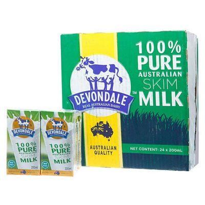 200ml*24盒进口牛奶德运脱脂牛奶儿童少年学生营养早餐整箱早餐奶