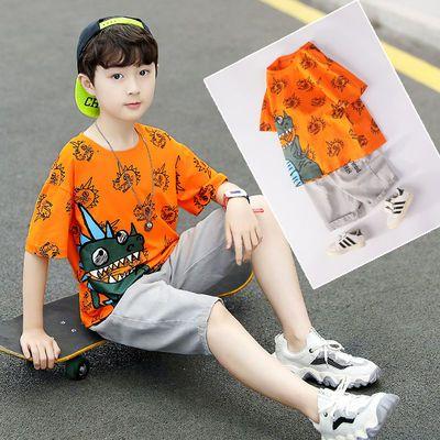 2020童装新品中大童男童夏装男孩儿童衣服短袖短裤T恤套装潮款帅3