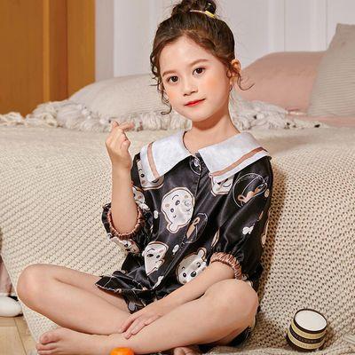 女童睡衣短袖夏季女童薄款空调女孩小孩宝宝家居服夏