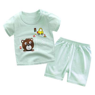 宝宝短袖t恤套装纯棉夏季新款男童女童婴幼夏季中小童儿童短袖t恤