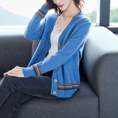 春季女士针织开衫薄款早春装2020年新款钍织外搭上衣毛衣外套春秋