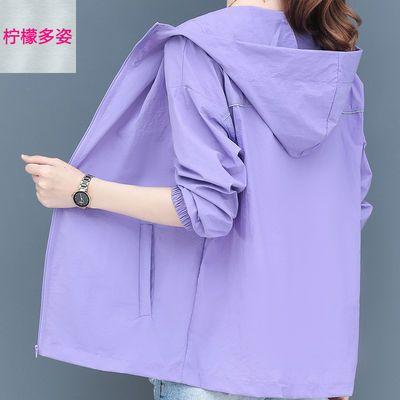 39151/大码防晒衣女 防紫外线2021新款韩版夏季防晒服短款宽松薄外套女