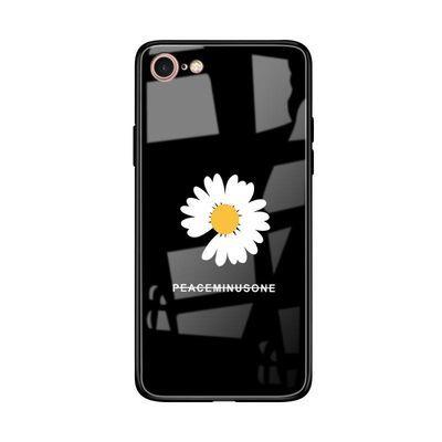 苹果7手机壳品果7防摔玻璃壳iphone8保护套GD权志龙同款雏菊外壳4