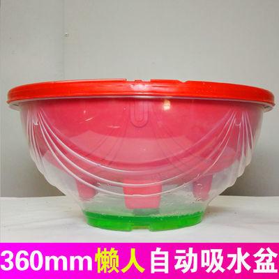 大盆绿萝通用花盆塑料懒人自动吸水盆储水盆专用盆36mm公分吊兰盆