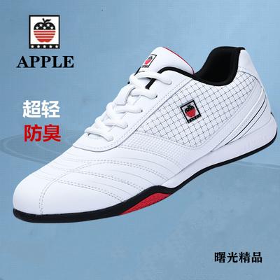 苹果复古减震防臭轻便慢跑鞋旅游鞋品牌皮面男士健身房青少年中年