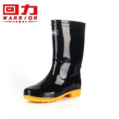 上海回力807高筒中筒雨鞋户外工地防护劳保水鞋洗车厨房防滑雨靴