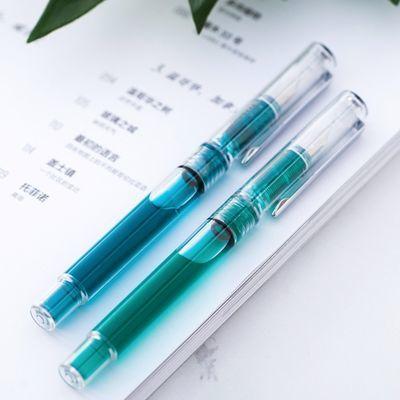 【送2瓶墨+刻字】派顿F10笔杆灌墨女生透明示范彩墨钢笔学生练
