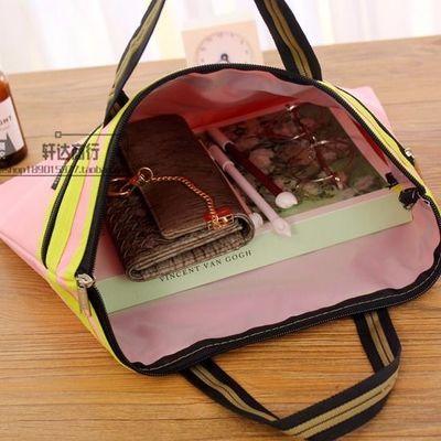 8K美术袋大号A3文件袋帆布手提双层拉链袋美术用品画纸画板收纳袋