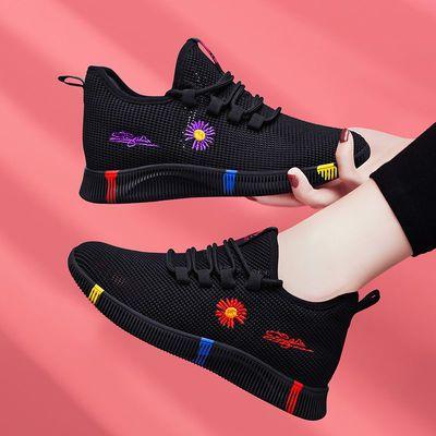 女鞋运动鞋2020新款夏透气网面轻便防滑软底休闲鞋白搭潮跑步鞋女