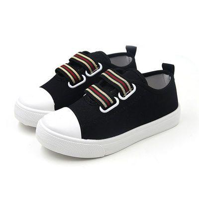 2020年春季亲子鞋一脚蹬帆布鞋韩版学生板鞋男女儿童宝宝小白鞋