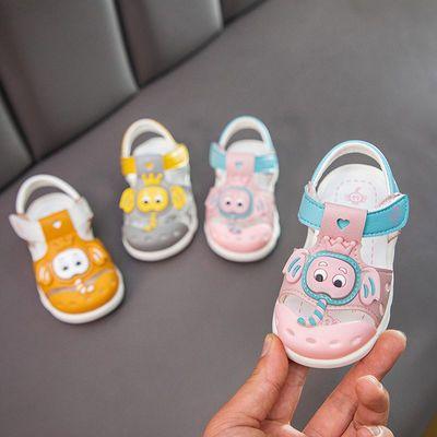 都市小鸭宝宝凉鞋男0-3岁儿童防滑软底学步鞋小女孩包头鞋小童鞋