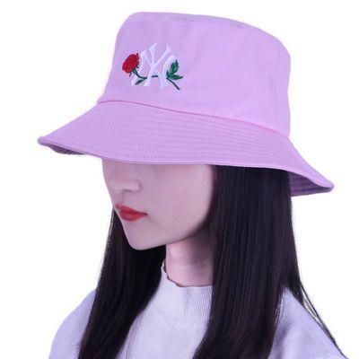 夏天渔夫帽女遮脸韩版防晒紫外线遮阳帽子潮百搭日系夏季时尚盆帽