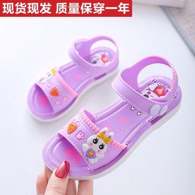 女童凉鞋夏季防滑软底凉鞋儿童可爱公主卡通小孩居家夏季时装凉鞋