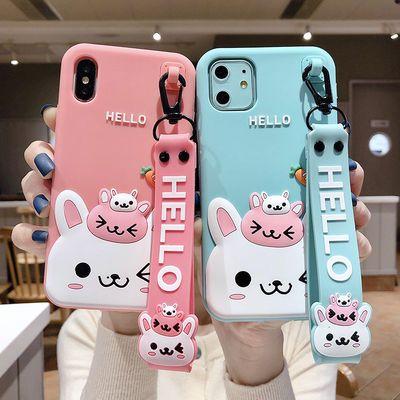 萝卜兔苹果11/pro手机壳Xs/Max硅胶套iPhone7/8/plus软壳XR卡通6s
