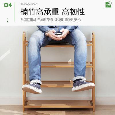 简易多层鞋架子家用鞋柜防尘门口鞋子宿舍多功能收纳架实木置物架