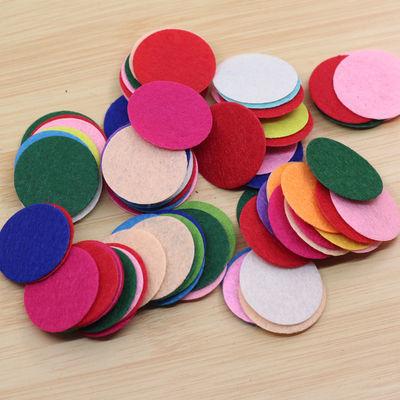 1000个装不织布圆片无纺布衬布diy手工制作发饰材料辅料饰品配件