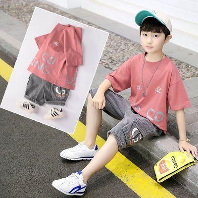 2020童装新品男童中大童男孩儿童衣服夏装短袖短裤T恤套装潮款帅4