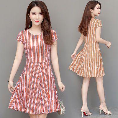 适合妈妈夏季新品薄款短袖连衣裙中老年女装高贵气质阔太太裙子