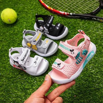 都市小鸭儿童凉鞋女2020夏季新款儿童软底包头凉鞋男孩小童宝宝鞋